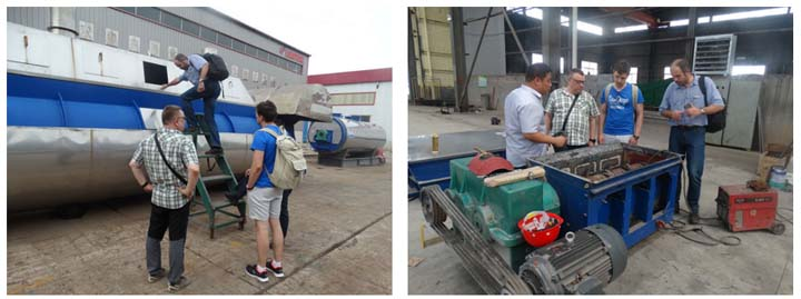 customer visiting for fish meal equipment